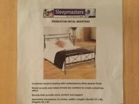 Sleepmasters Princeton Metal king size Bedstead in Excellent condition