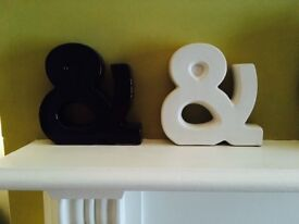 2 lovely & signs-One black-One white