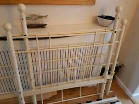 Cream metal single day bed and matress