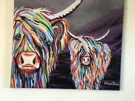"Rab&Isa McCoo massive canvas 40""X 40"" X1 1/4"" by Steven Brown."