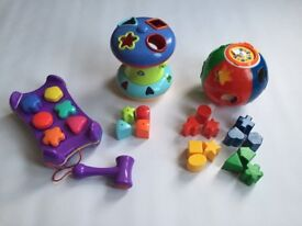 Kids Pre-School colour and Shape Sorters x3! Very good condition! Elc