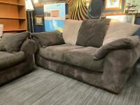Two piece cord sofa set