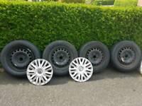"mk6 golf 15"" steel wheels and tyres"