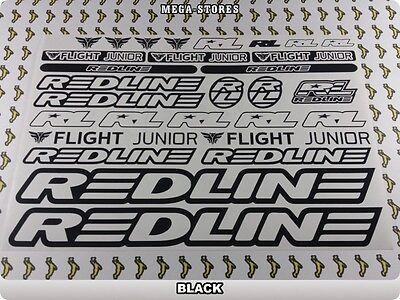 Genuine Redline Flight BMX Bike Crankset Decals Stickers Inserts Yellow