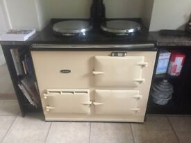 Used AGA for sale - Cream Yellow, Gas, hot water, 2-Hob