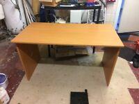 Large Cherry / Beech coloured Office / Study desk