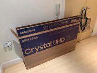 """Samsung 55"""" 2020 model, 4K Crystal UHD Tv"""