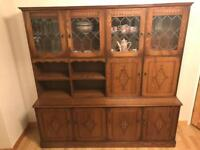 Solid wood cabinet sideboard