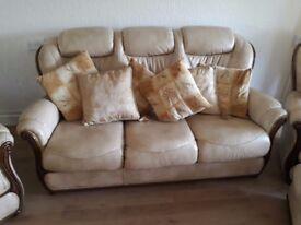 Cream/ Beige Leather Suite