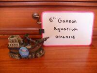 """6"""" Galleon aquarium ornament"""