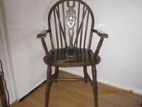 Wooden chair with arms, heavy, from pet and smoke free home, £ 15