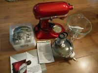 Kitchenaid artisan food mixer (4.8L) with food processor attachment