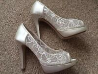 Ivory wedding shoes size 5