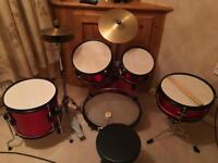 junior drum kit as new