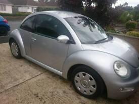 VW Beetle 1.6 Silver, 2003, MOT until 30 August 2018