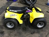 Suzuki lt50, like new, wheels sandblasted 4 new tubes and additional Suzuki weight added to front