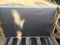 Blue/Black slate patio tiles