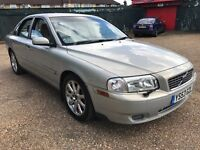 Volvo S80 SE D5 2401cc Turbo Diesel Automatic 4 door saloon 53 Plate 24/10/2003 Silver