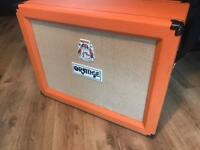 Orange 2x12 open back speaker cab