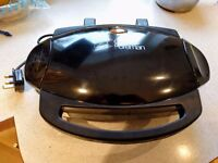 George Foreman 2-Portion Grill, with removable plates