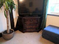 Dark oak television cabinet (Corner unit)