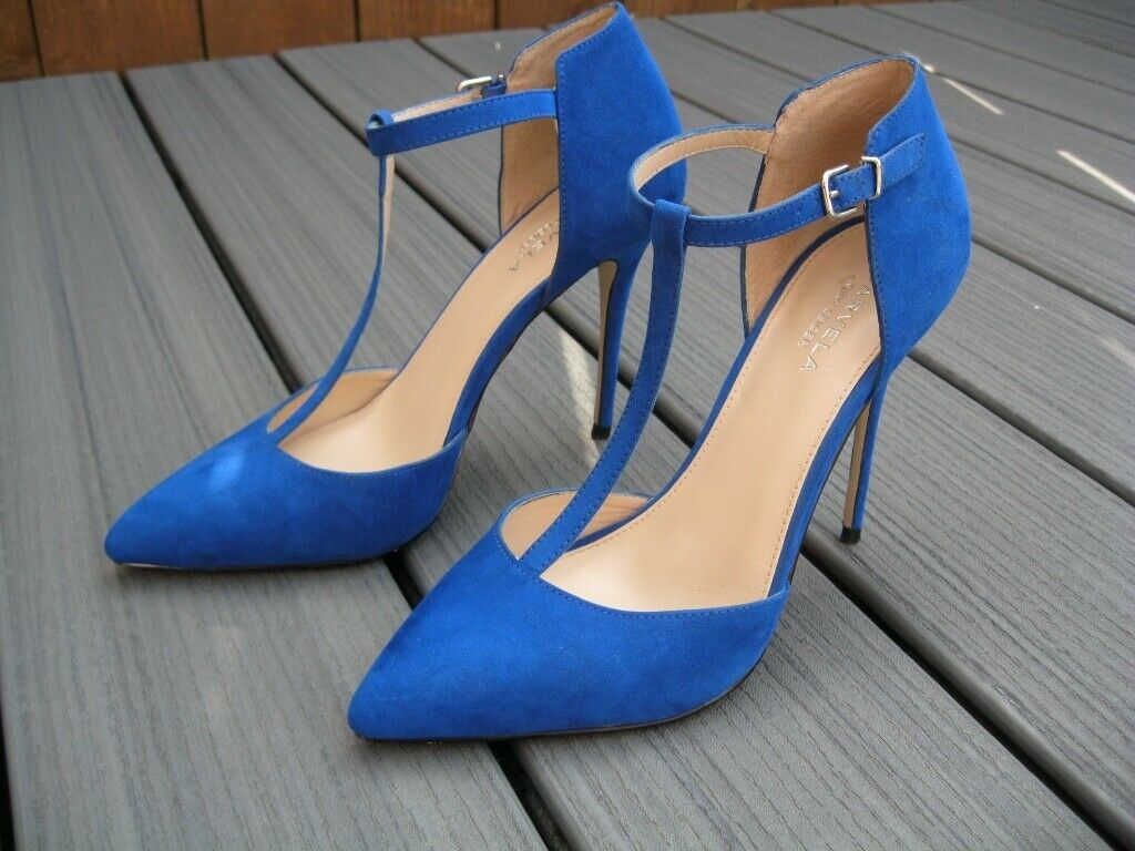 019999d1a23 Kurt Geiger Miss KG Lulu In Blue Carvela Heels Court Shoes Size 40 UK7  -Very Good Condition | in Newcastle, Tyne and Wear | Gumtree