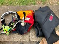 Sailing - harnesses and wetsuit