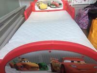 Disney cars toddler bed and mattress
