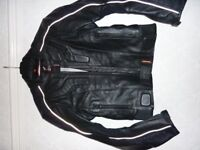 Hein Gericke Black Motorcycle Jacket Chest 36+ AS NEW !