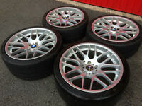 BMW E46 M3 CSL ALLOY WHEELS AND MICHELIN PILOT SPORT CUP TYRES