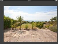 Large 3 bedroom ground floor flat with back garden with sea views in Roedean by Brighton Marina