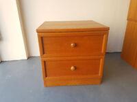 Bedside table single bedside drawer storage good quality vintage retro shabby chic