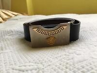 Leather Versace belt