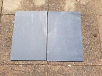Natural Brazillian Black Slate Tiles 600mm x 400mm x 10mm