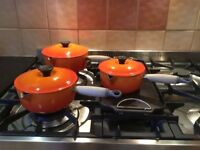 Le Creuset three piece pan set