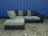 Black+Grey Corner Sofa *Excellent Condition,Delivery Available*