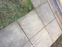 20 concrete paving slabs - 60cm x 60cm - buyer to lift/remove from site - £1