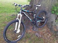 Boardman Team FS Full Suspension Mountain Bike Hydraulic disc brakes Sram X7 RockShox fork