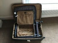BROWN SUITCASES - Set of 3