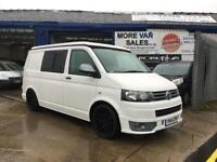 2014 1 owner Volkswagen transporter t5 2.0 tdi 4 birth camper van with fridge & smev 12v lighting