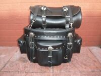 large leather sissybag.