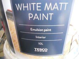 INTERIOR EMULSION WHITE PAINT 10L TESCO *BRAND NEW*