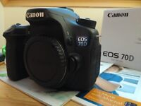 Canon EOS 70D - Immaculate condition. Low shutter count.