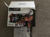 INTEMPO ENGAGE 3D VIRTUAL REALITY HEADSET, WORKS WITH GOOGLE AND APP STORE, NEW UNUSED