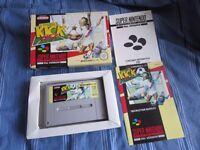 Kick Off SNES Complete VGC SUPER NINTENDO game PAL