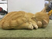 Life like Cat Garden Ornament