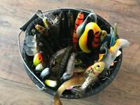 Bucket full of Savage Gear Pike Lures!