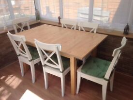 IKEA Dining Table & 6 x Chairs