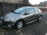 2009 HONDA CIVIC SE I-VTEC 1.8 PETROL GREY 94,000 FSH LEATHER SEATS