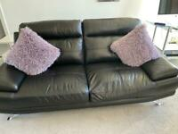 Three seater sofa and recliner